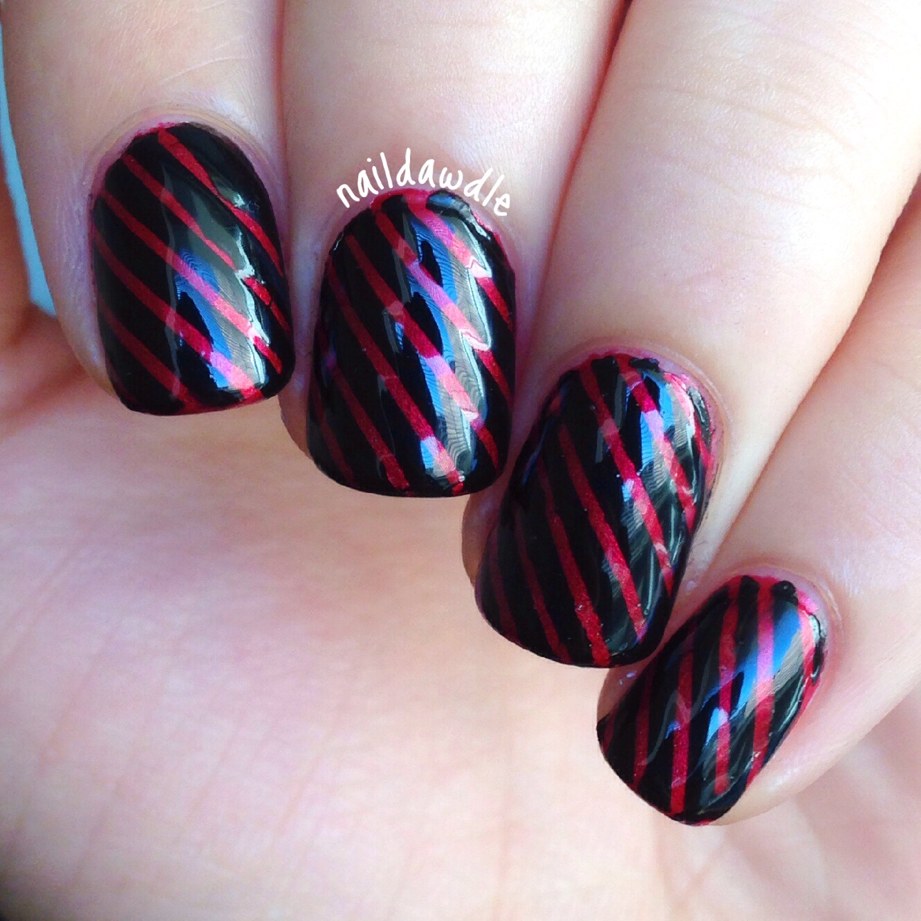 Nail Art Using Striping Tape: Experimenting With Striping Tape